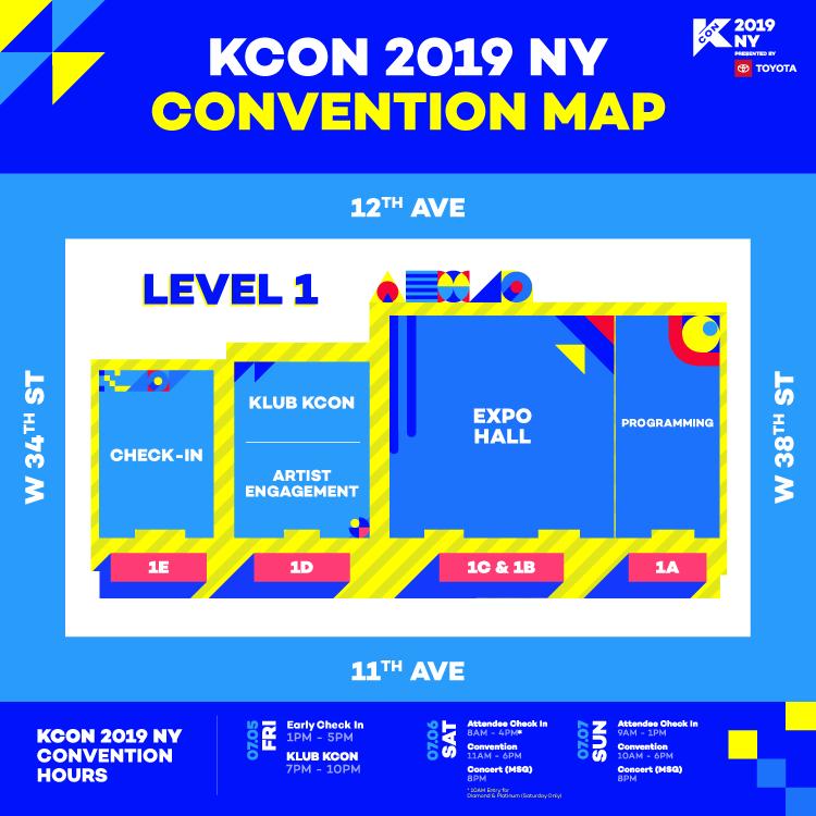KCON NY - Maps (2019) - KCON USA OFFICIAL SITE
