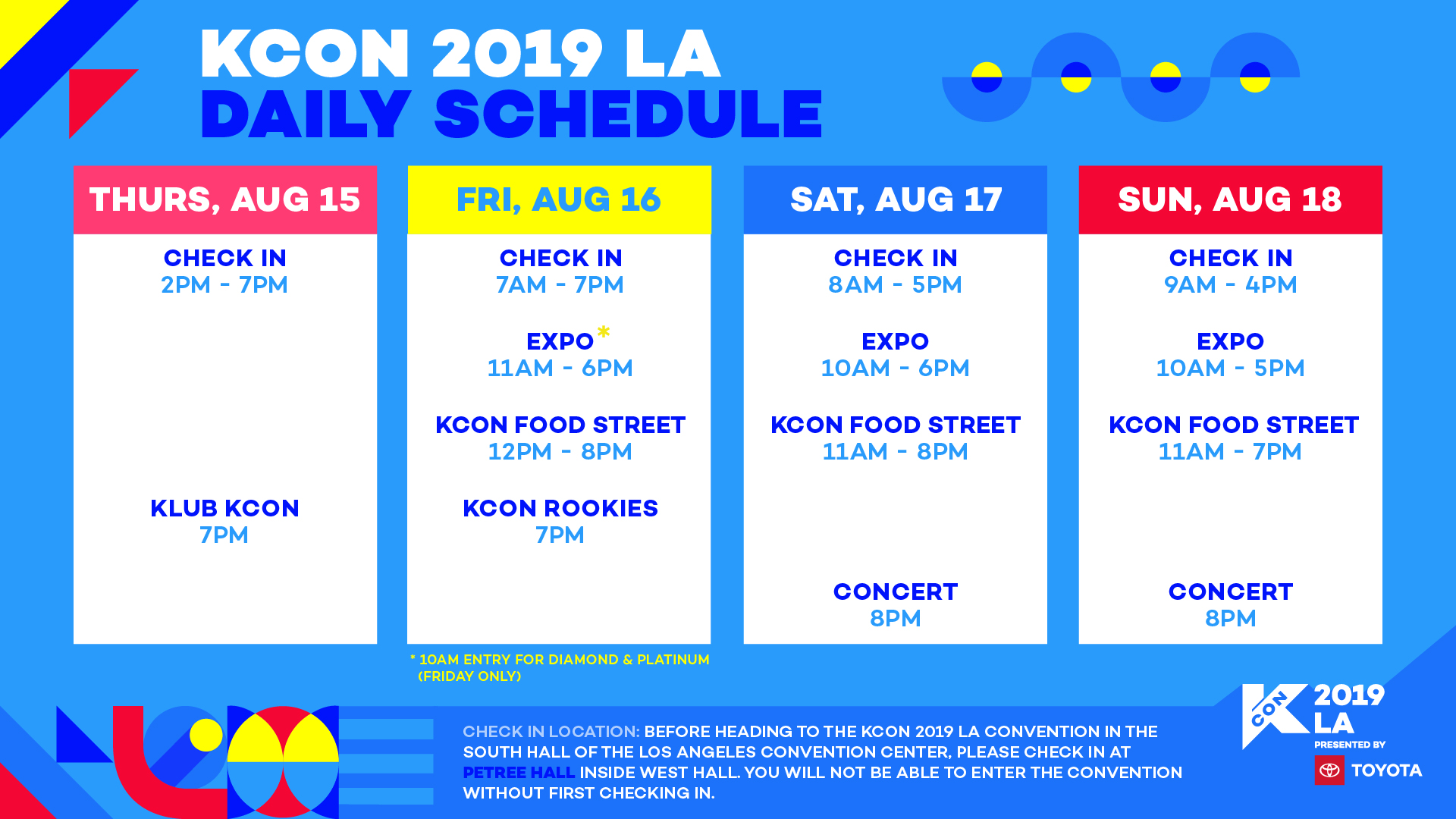 KCON LA - Schedule - KCON USA OFFICIAL SITE